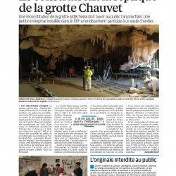 """Le Parisien PHENOMENES  """"ils construisent la Grotte Chauvet"""""""